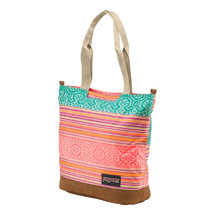 RIGHT-PACK-TOTE-FLUORESCENT-RED-GOLDEN-SUMMER